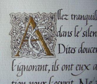 Calligraphie de Desiderata