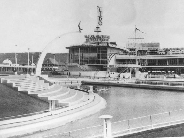 Le Plongeur et son arc, Liège, Exposition internationale de l'eau, 1939