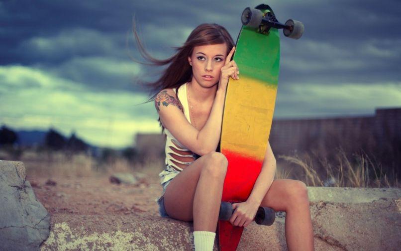 Skate Girl Wallpaper Newwallpapers Org