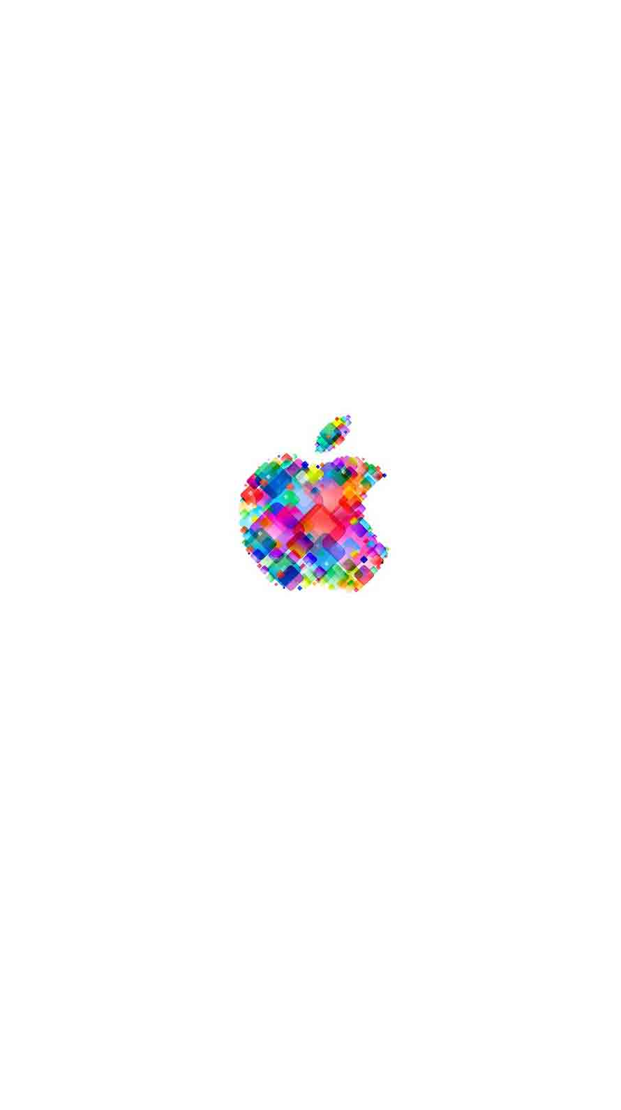 Neon white wallpapers wallpaper cave. Apple logo pop colorful white | wallpaper.sc iPhone6s