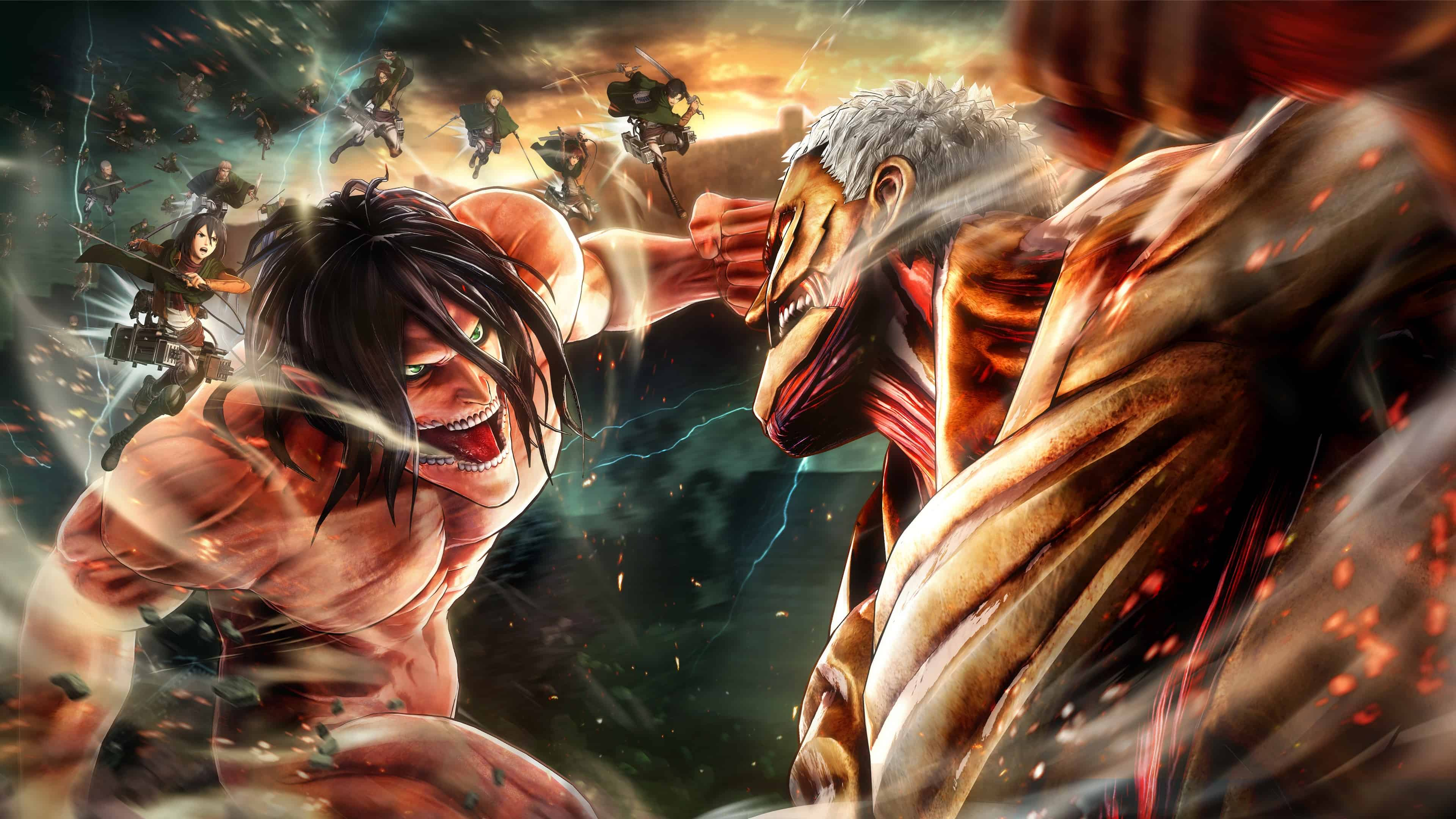 Who are the best characters in the popular japanese attack on titan anime series? Attack On Titan Computer Wallpapers - Top Free Attack On ...