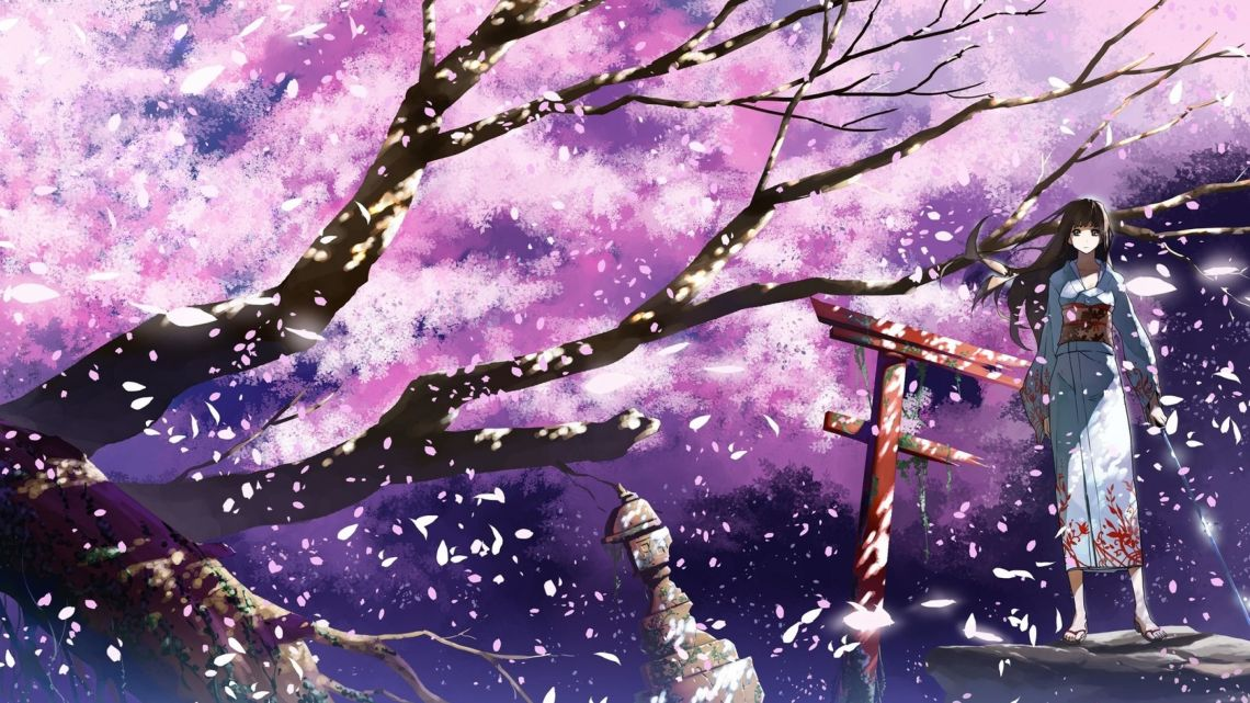 Anime Cherry Blossom 4k Wallpapers Top Free Anime Cherry Blossom 4k Backgrounds Wallpaperaccess