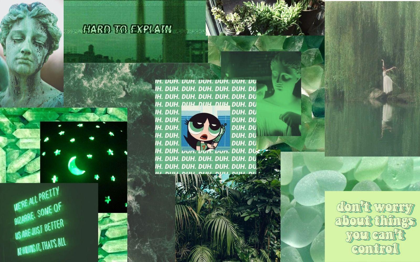Aesthetic islamic quotes tumblr wallpaper; Green Aesthetic Computer Wallpapers - Top Free Green ...