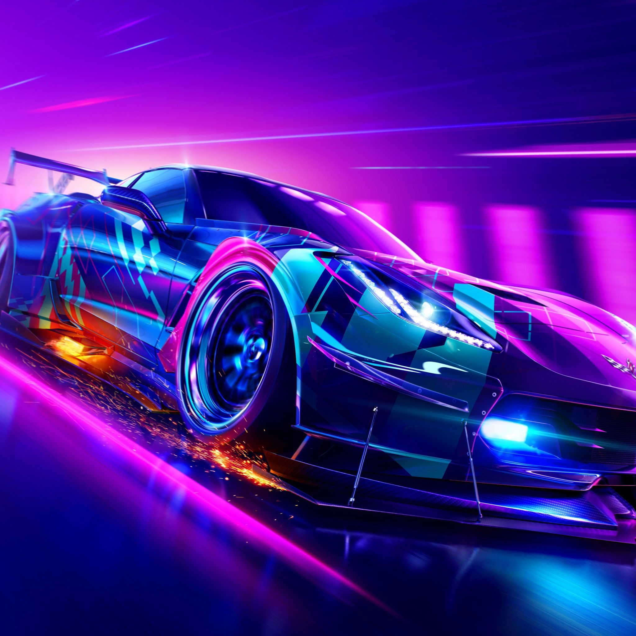 4k wallpapers of neon for free download. Purple Neon Car Wallpapers Top Free Purple Neon Car Backgrounds Wallpaperaccess