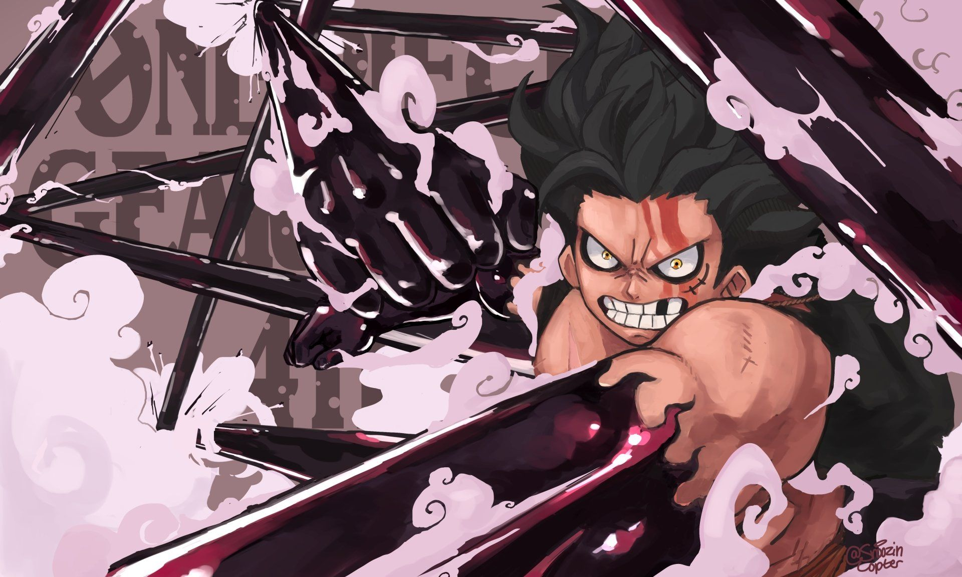 Luffy will defeat kaido in one piece with his new gomu gomu no mi power, luffy's gear 5. One Piece Luffy Gear 4 Wallpapers Top Free One Piece Luffy Gear 4 Backgrounds Wallpaperaccess