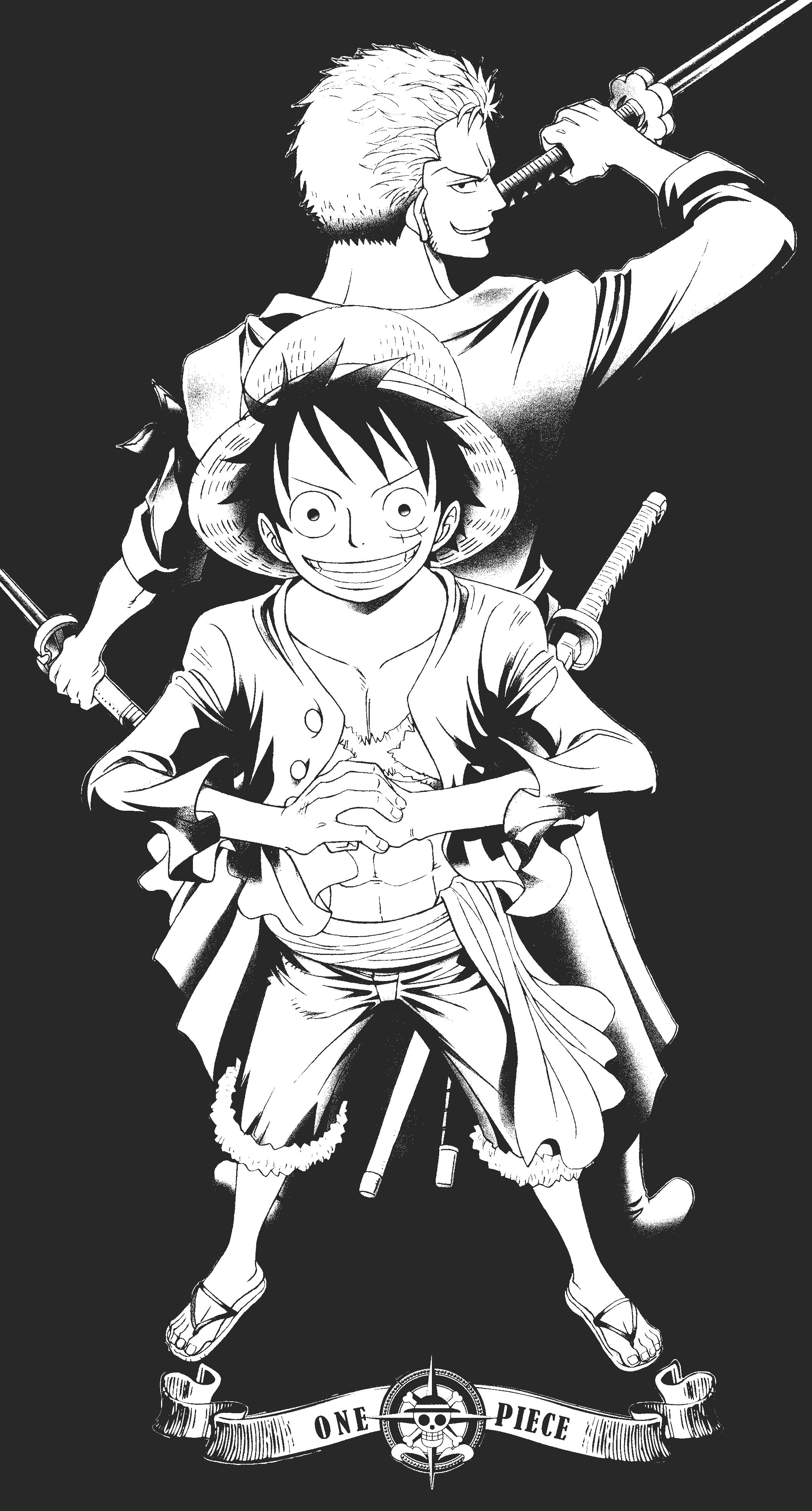 372 4k ultra hd one piece wallpapers background images. Luffy Black and White Wallpapers - Top Free Luffy Black ...