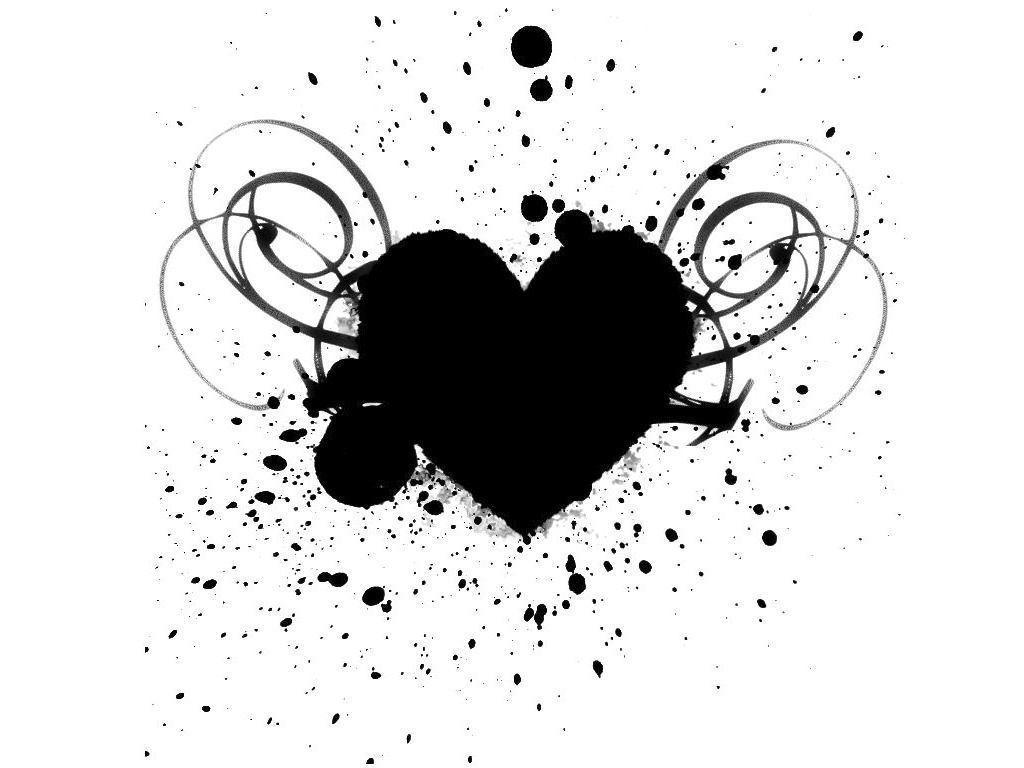 Black And White Heart Wallpapers