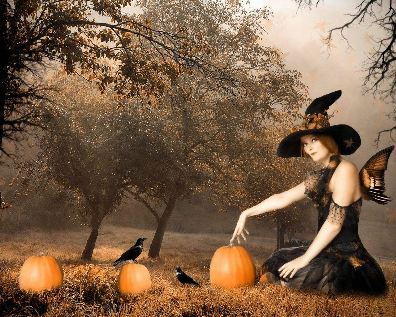 vintage halloween screensavers