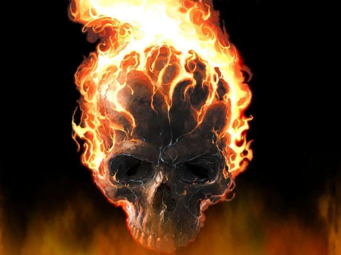 Photo avatar cartoon ff cartoon logo free fire best cartoon wallpaper. Skulls On Fire Wallpapers - Wallpaper Cave