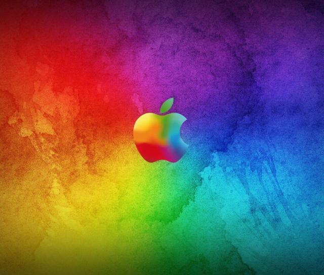 Colorful Apple Logo Hd Wallpaper Widescreen 1544 Wallpaper