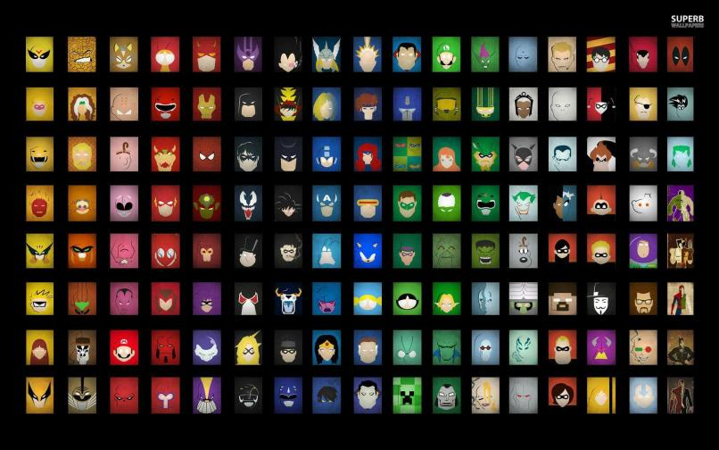 Cartoon Superheroes Logos Reviewwalls