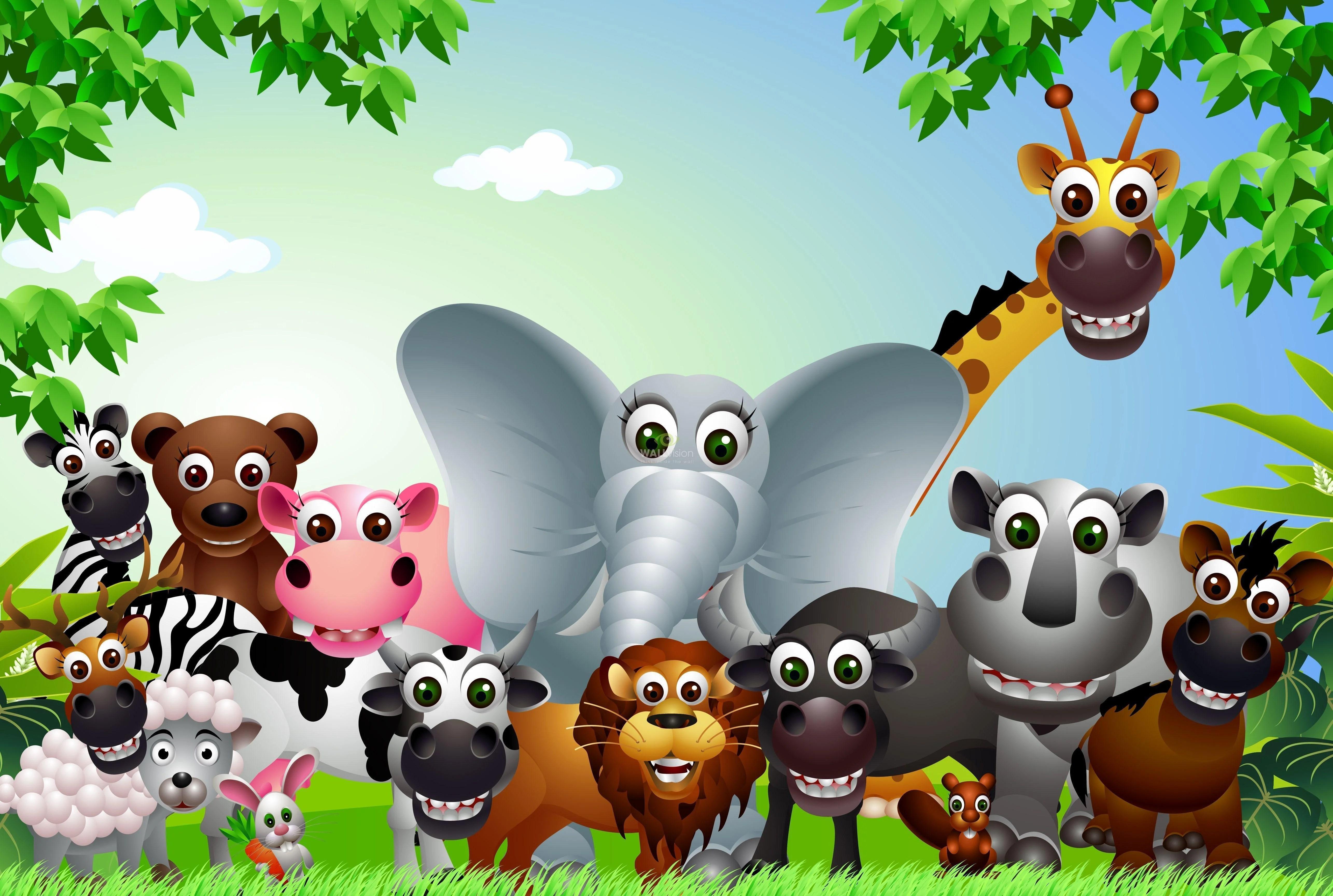 Cartoon Animals Wallpapers Wallpaper Cave