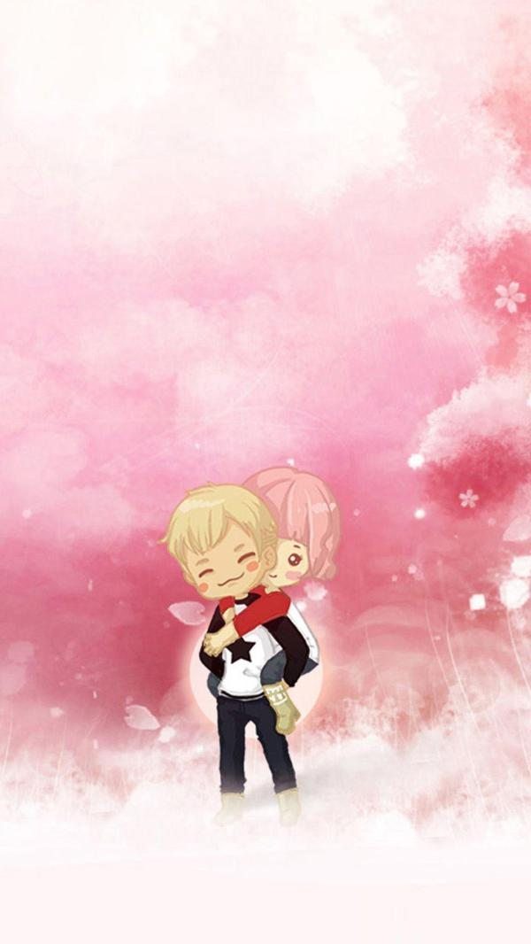 Cute Cartoon Couple Wallpapers For Mobile - Wallpaper Cave
