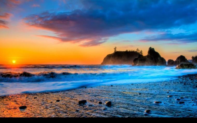 Best Of Summer Beach Sunset Wallpaper | The Most Beautiful Beach ...