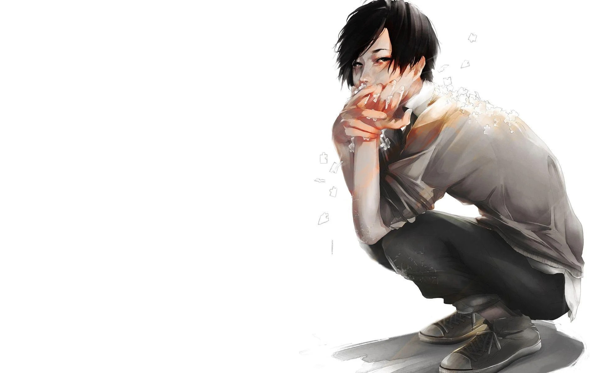 70 sad anime wallpapers images in full hd, 2k and 4k sizes. Sad Boy Anime Wallpapers - Wallpaper Cave