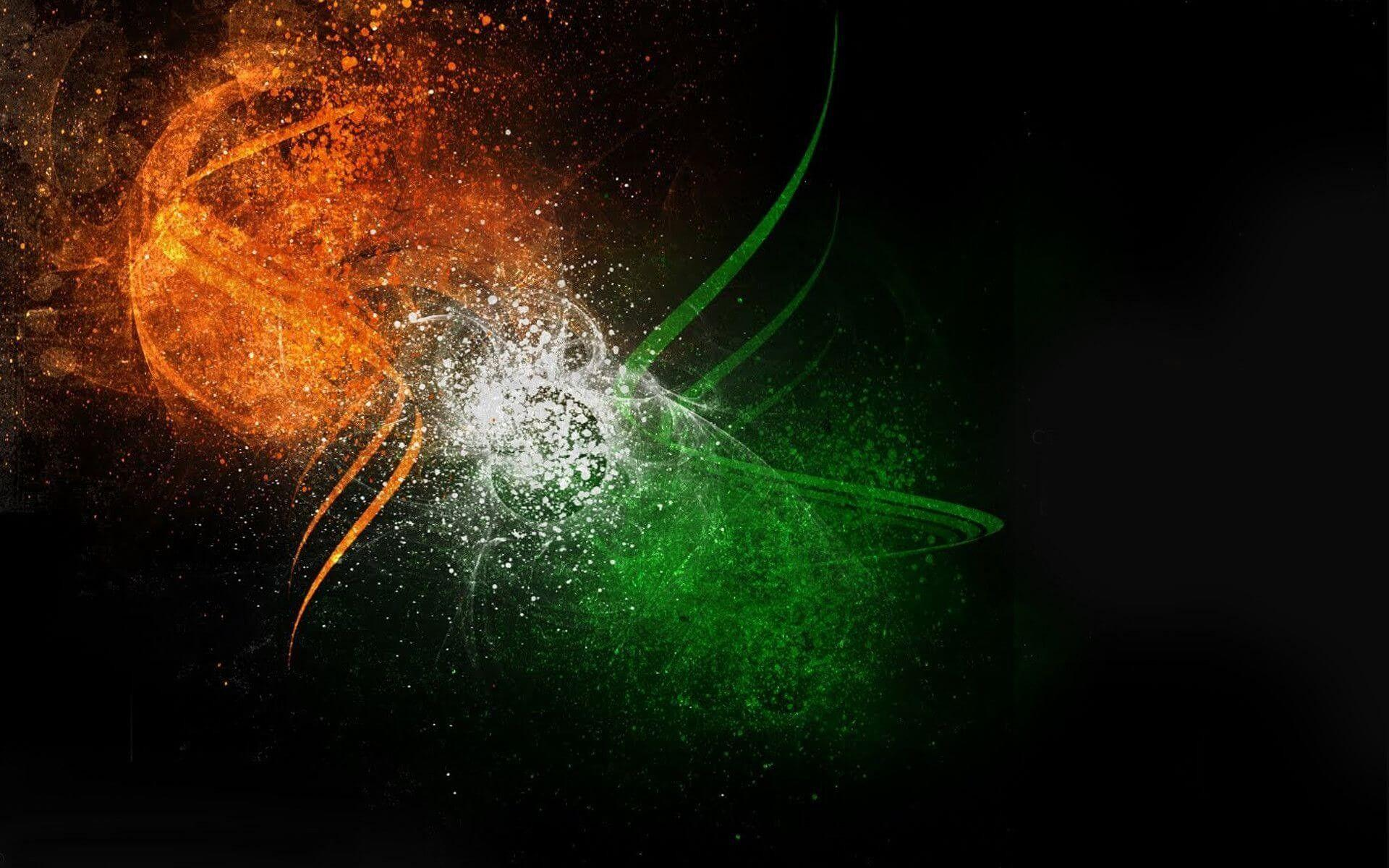 Indian Flag With Dark Backgrounds Hd Pics Wallpaper Cave
