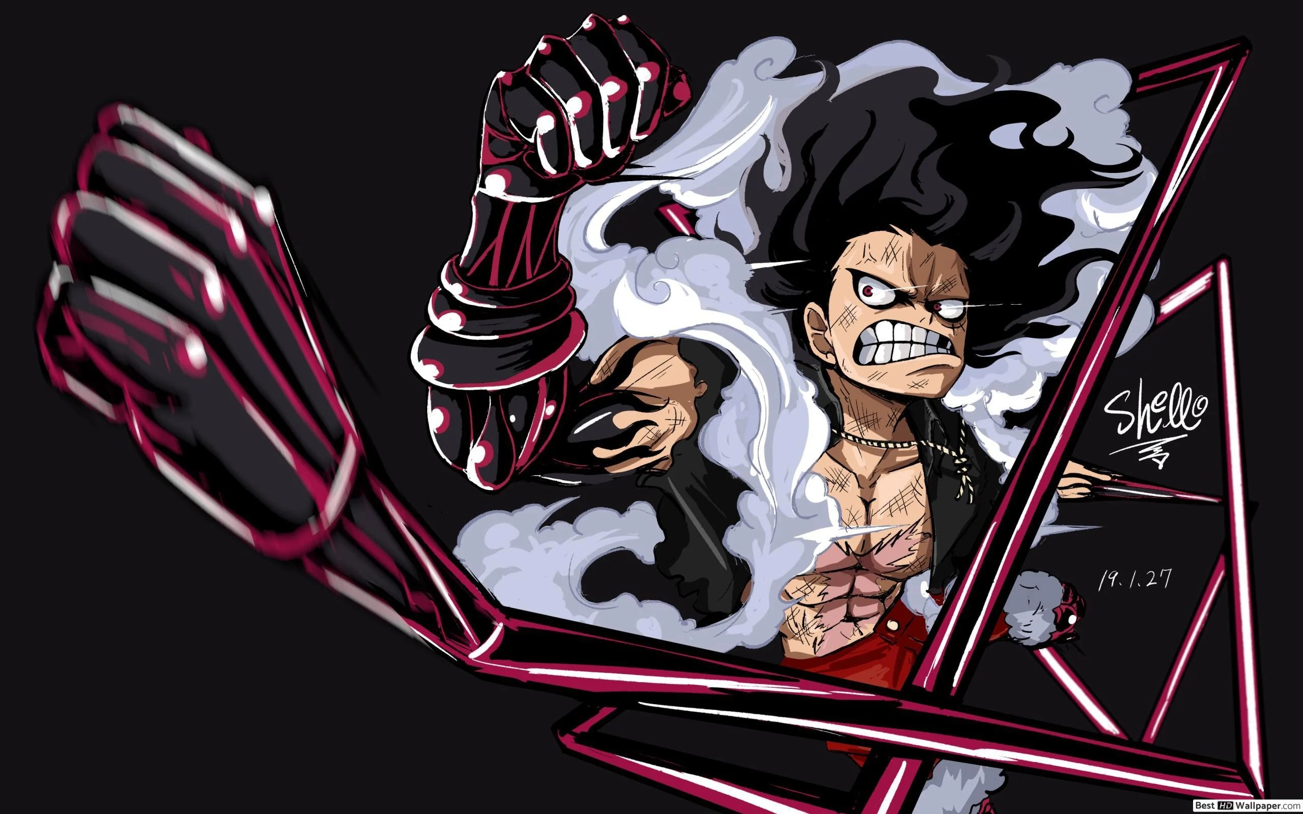 Luffy in gear fourth form! Luffy Snake Man Wallpapers - Wallpaper Cave