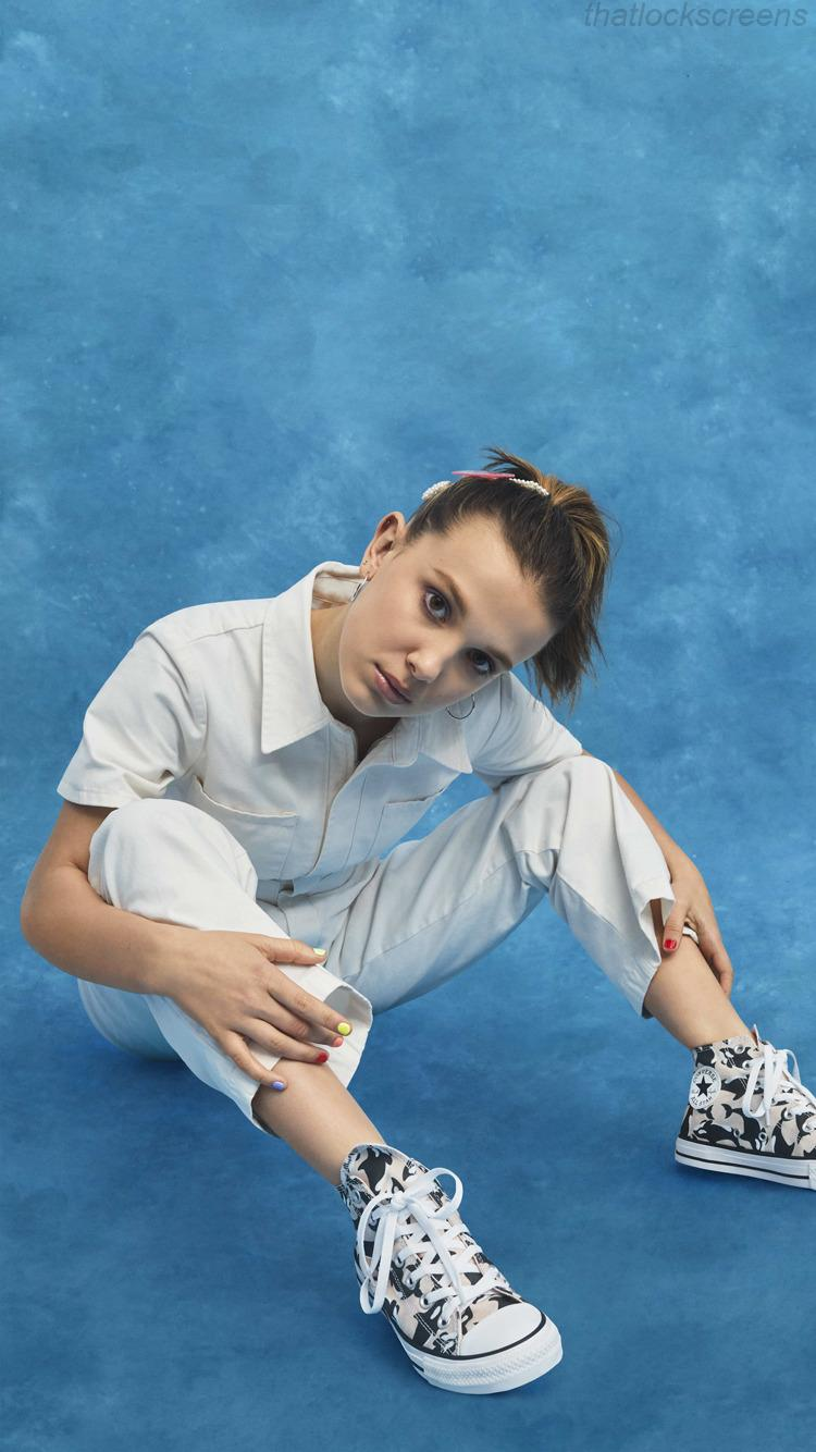 Another super cute and aesthetic screensaver!! Millie Bobby Brown Aesthetic Wallpapers - Wallpaper Cave