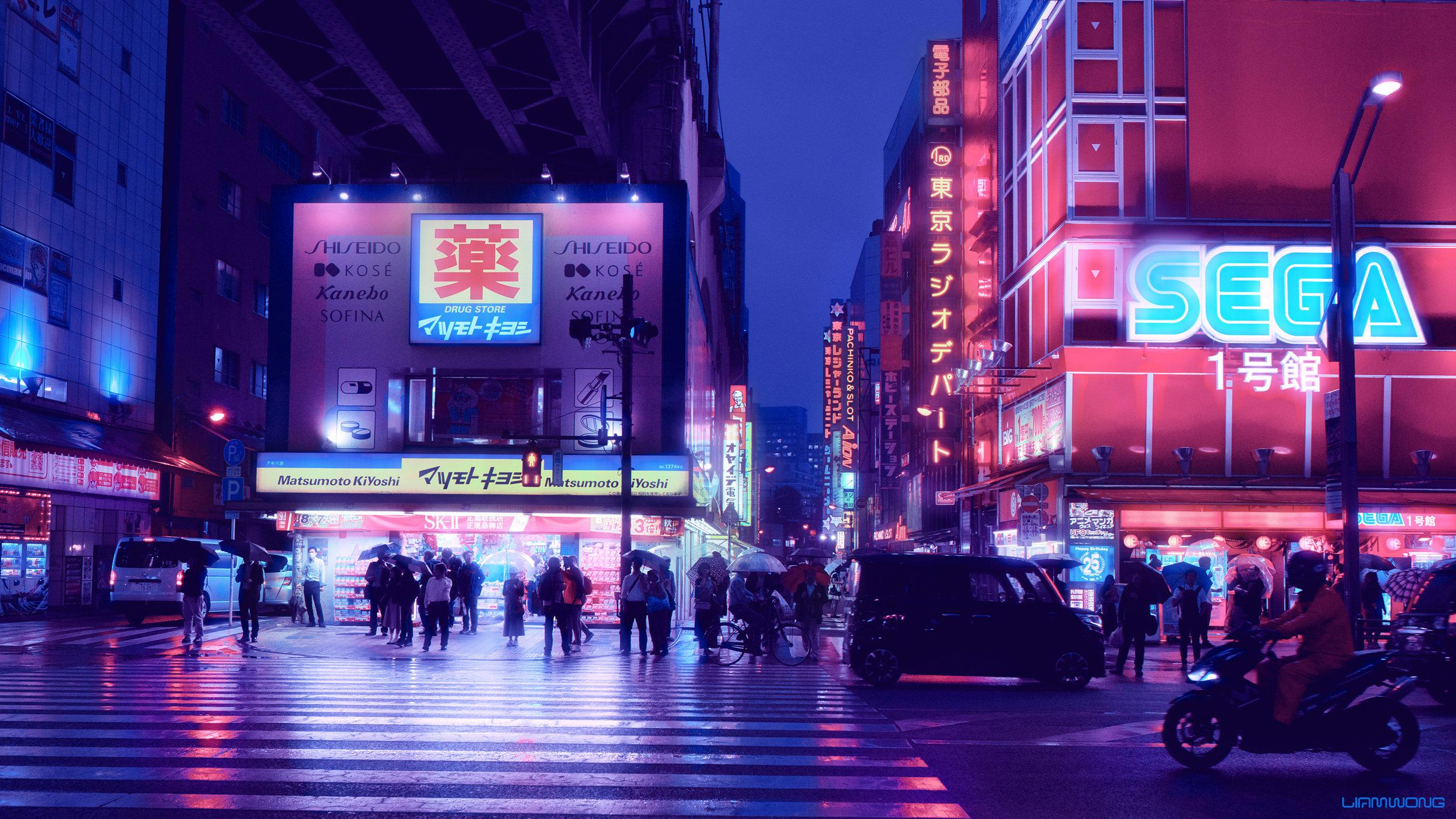 1080x1920 82+ purple phone wallpapers on wallpaperplay>. Aesthetic Japan Nightlife Wallpapers - Wallpaper Cave