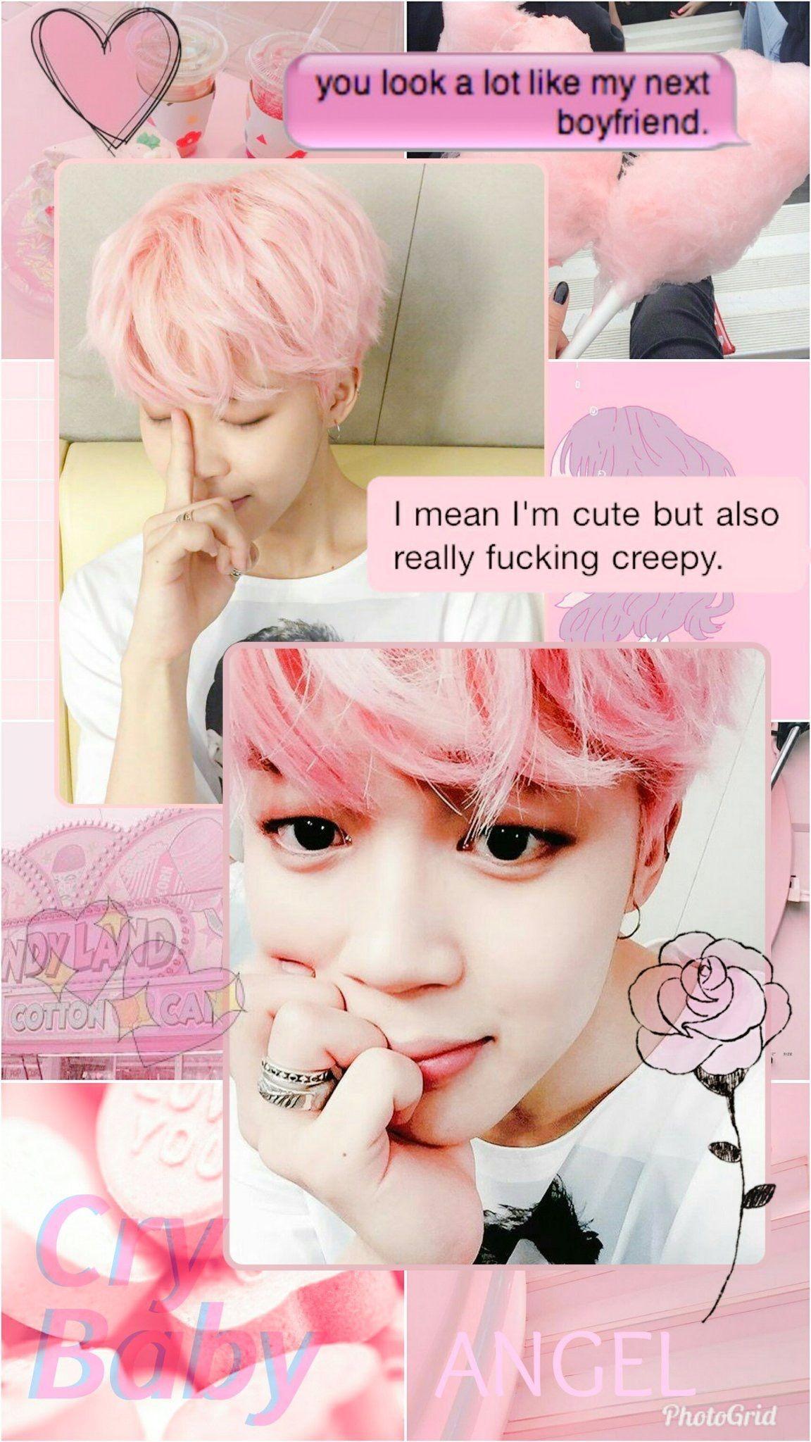 4k phone iphone bts (kpop 방탄소년단) butter jungkook (정국) car wash mobile wallpaper. Jimin Aesthetic Pink Wallpapers - Wallpaper Cave