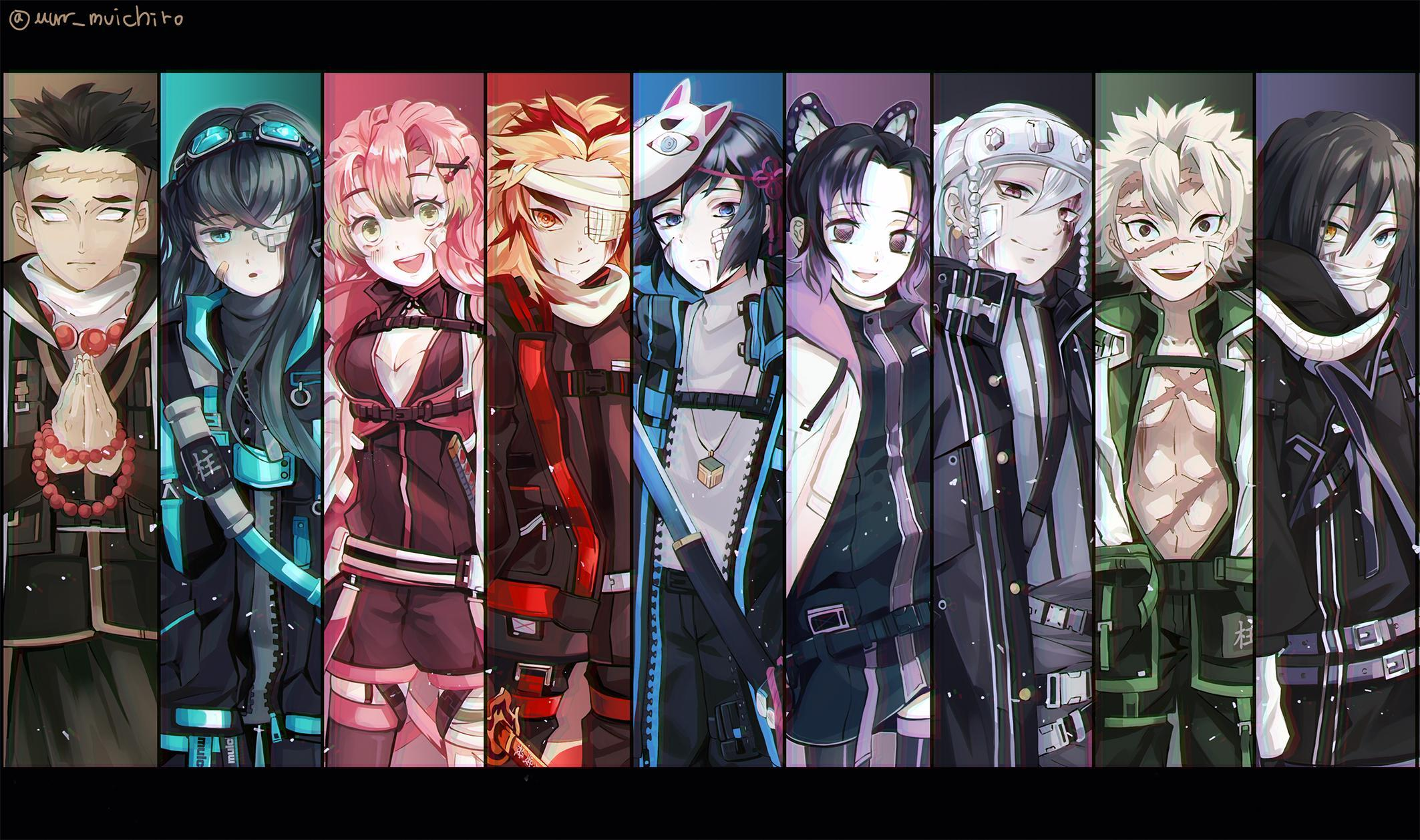 Ranking hashiras from weakest to strongest!! Anime Demon Slayer Hashira Wallpapers - Wallpaper Cave