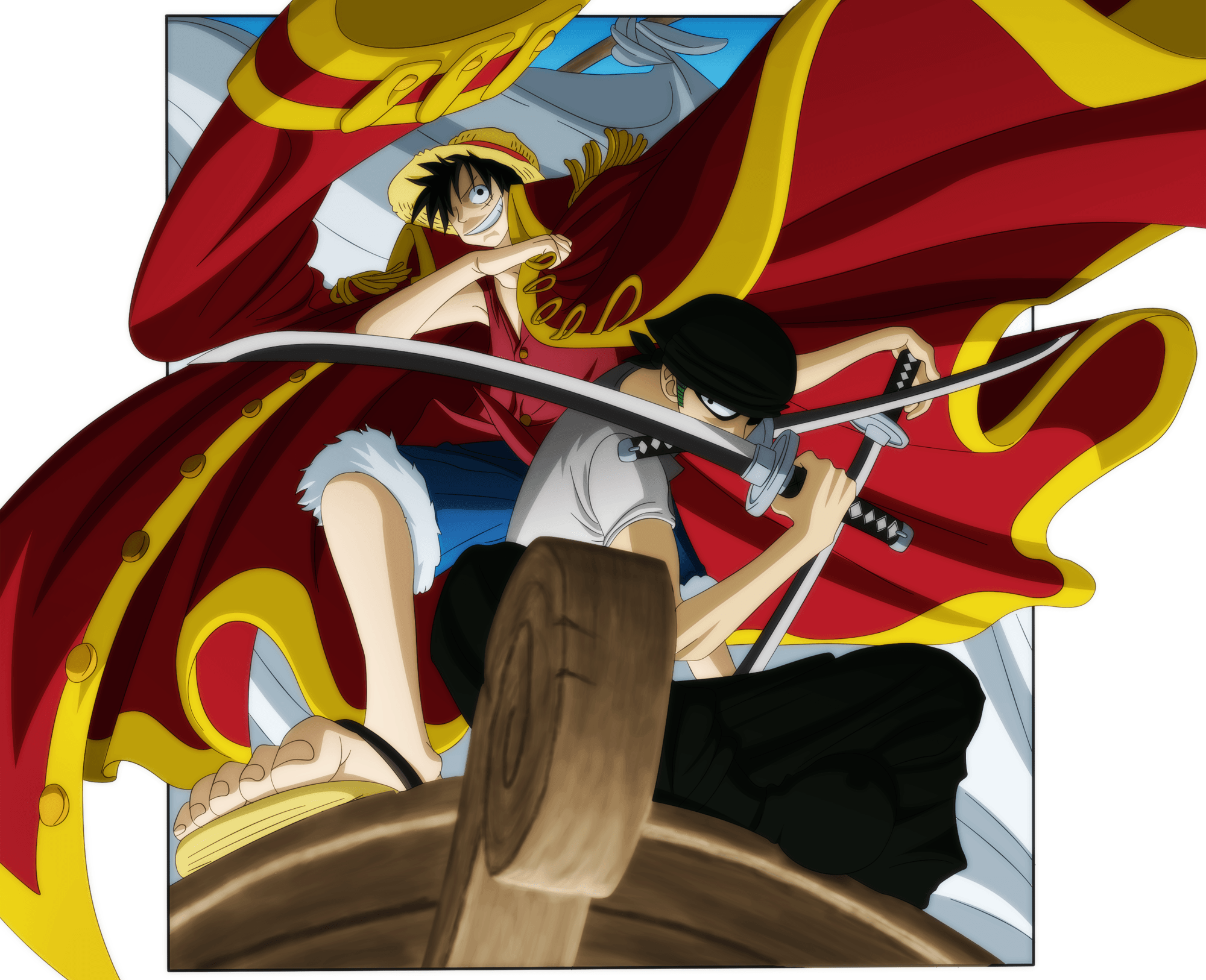 Anime, one piece, monkey d. Luffy X Zoro Wallpapers - Wallpaper Cave