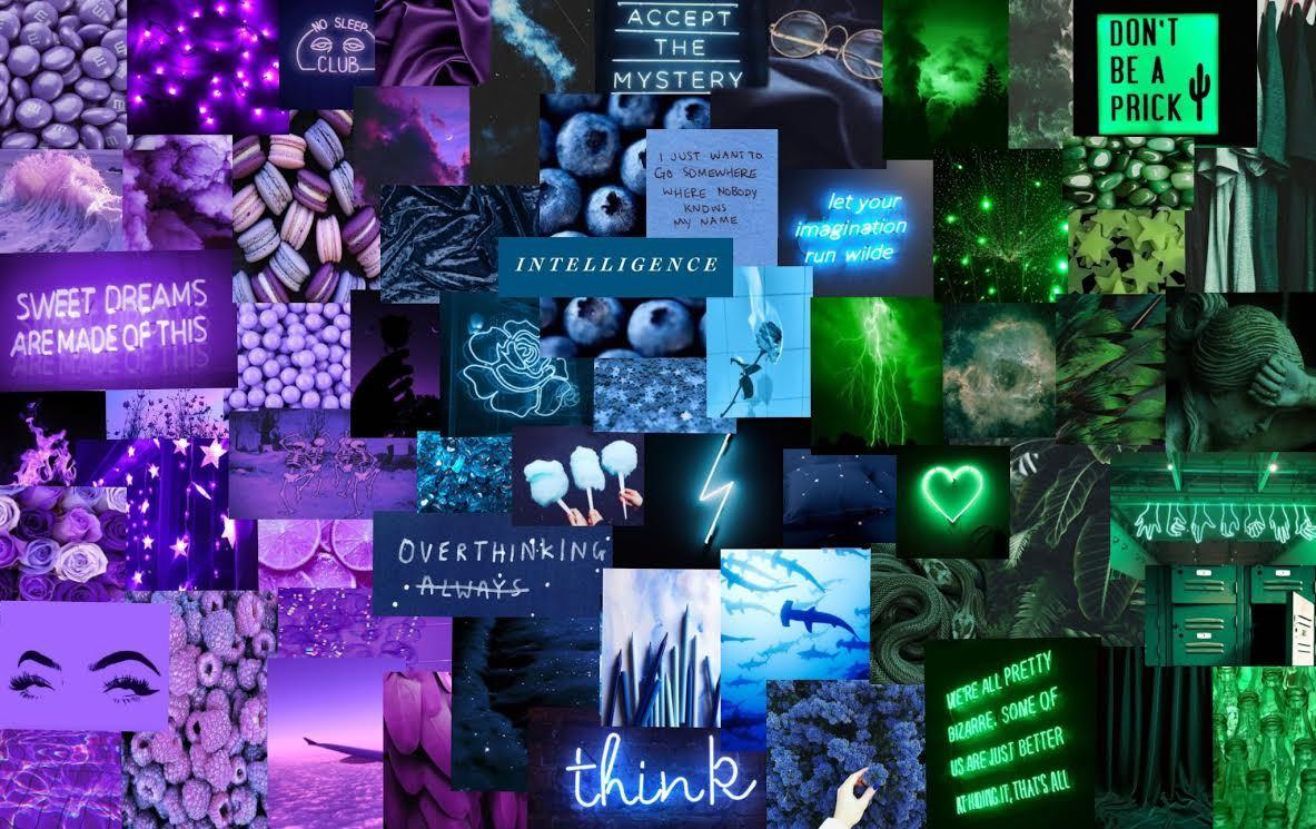 Like in cars, led neon lights are for aesthetic reasons only as they are not bright enough to be used for conventional lighting. Aesthetic Collage Laptop Wallpapers - Wallpaper Cave