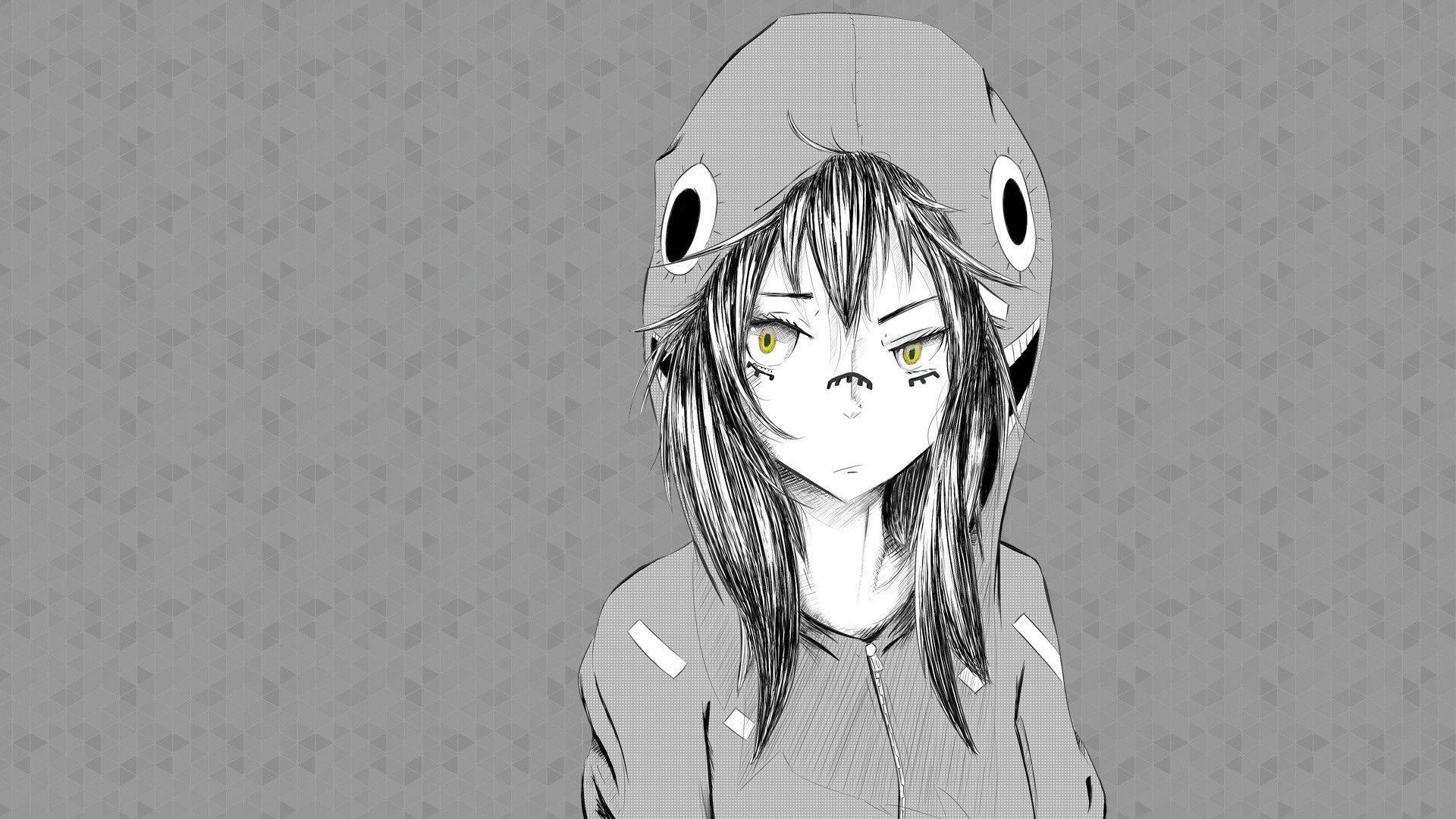 50 lock screen black and white wallpaper iphone. Aesthetic Anime Girl 1920x1080 Black Wallpapers ...