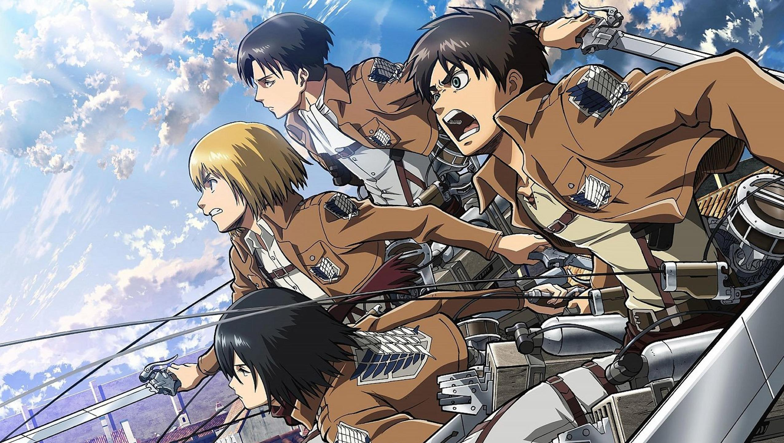 The tv adaptation of hajime isayama's critically acclaimed manga series attack on titan is one of the most popular shows among anime fans. Attack On Titan Computer Wallpapers - Wallpaper Cave