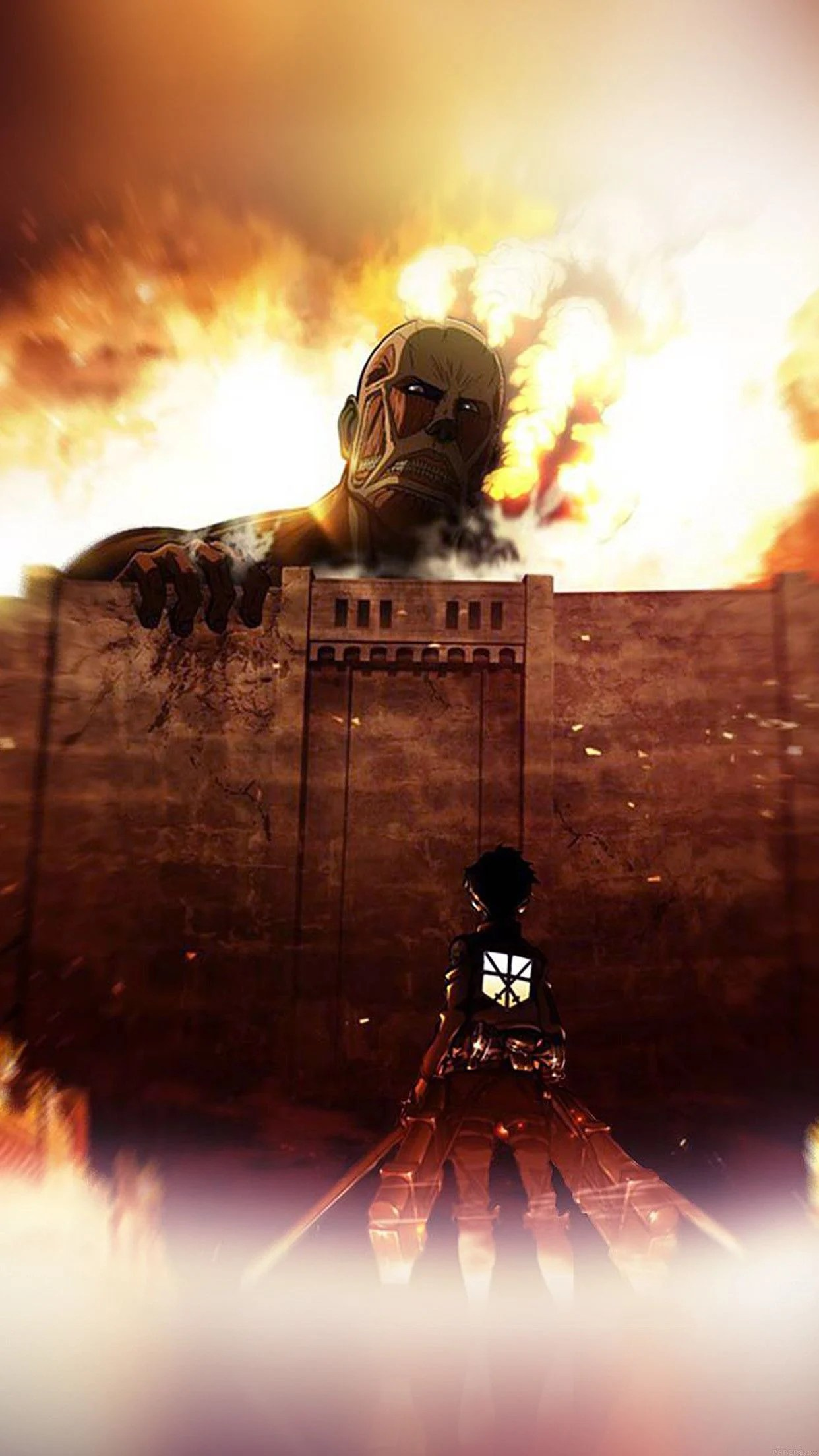 On april 15, 1912, the titanic entered history as one of the most notorious disasters at sea when the unsinkable ship struck an iceberg. Attack On Titan Smartphone Wallpapers - Wallpaper Cave