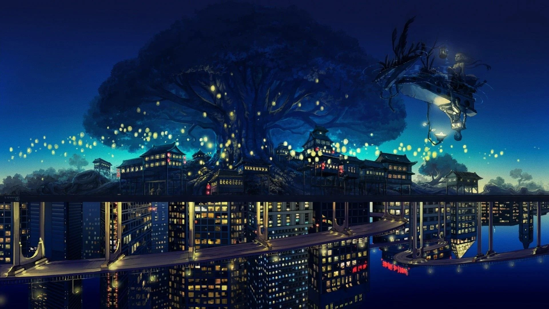 Anime scenery wallpaper desktop background is cool wallpapers. Anime Aesthetic Night Wallpapers - Wallpaper Cave