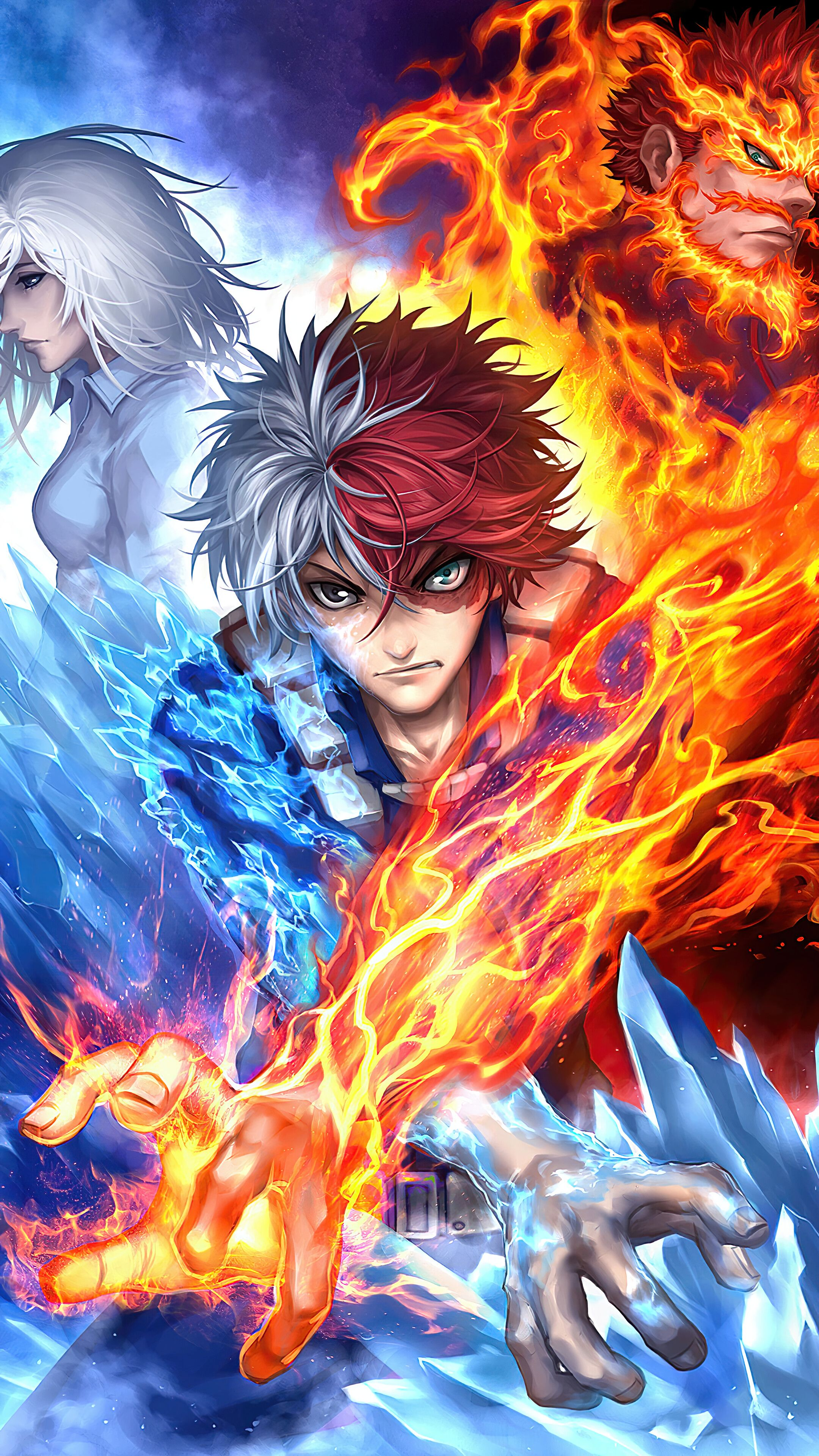 Collected 227 my hero academia wallpapers and background picture for desktop & mobile device. Todoroki iPhone My Hero Academia Wallpapers - Wallpaper Cave