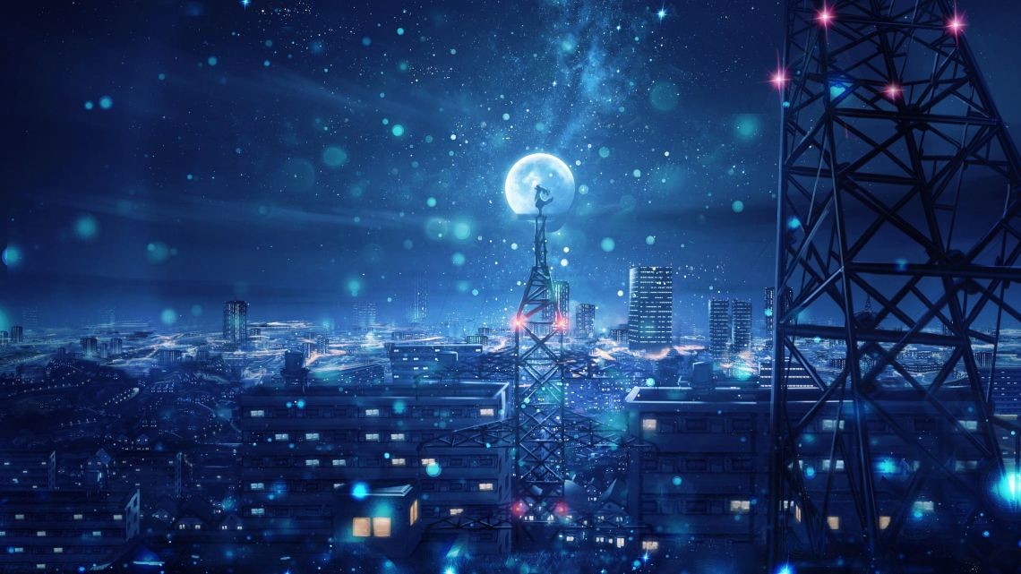 Night Aesthetic Anime Pc Wallpapers Wallpaper Cave