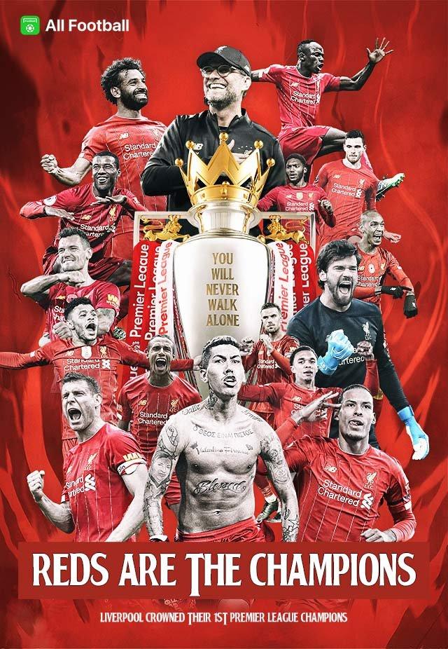 liverpool premier league champions 2020