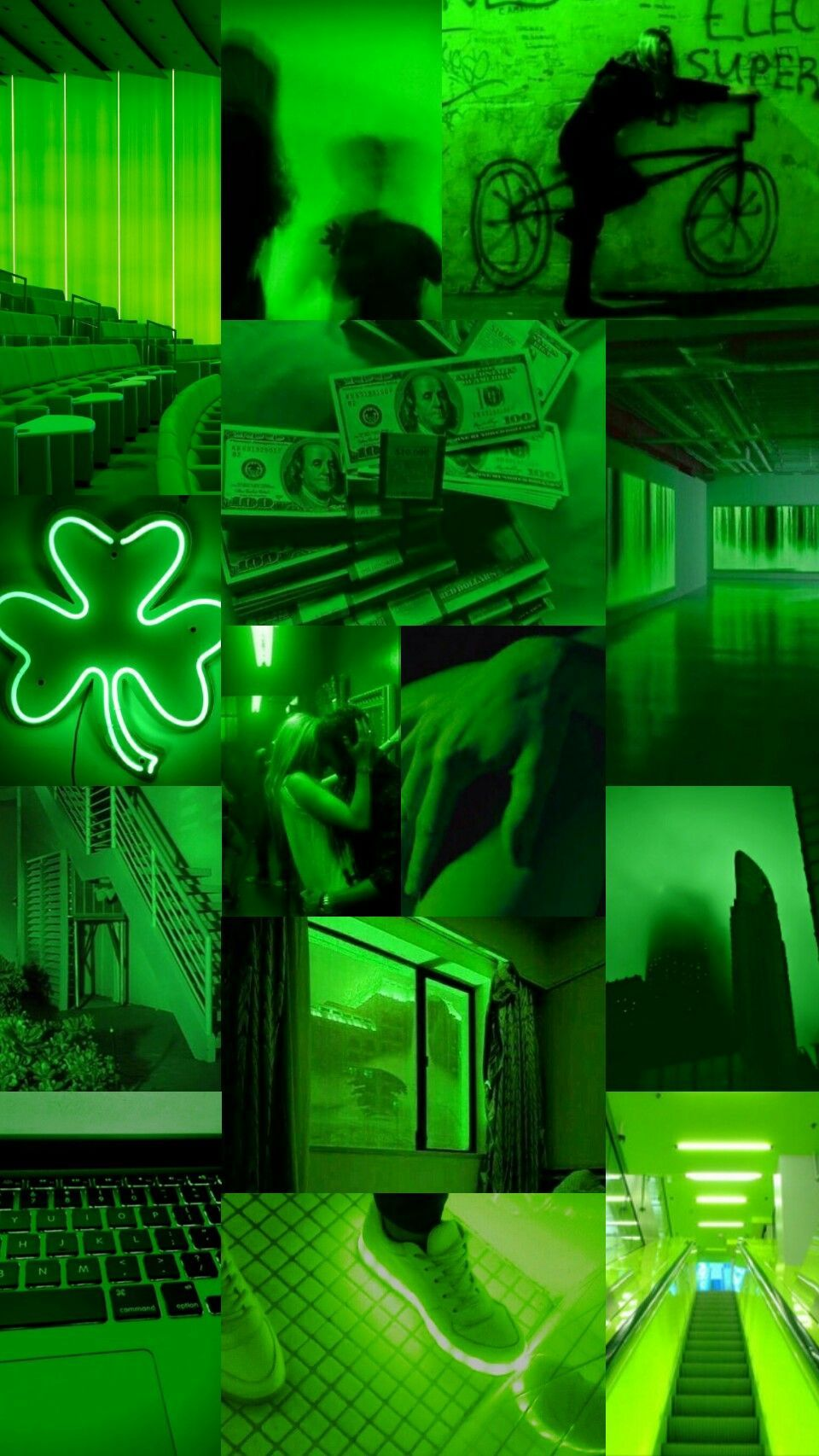 Here are only the best green neon wallpapers. Green Aesthetic Collage Wallpapers - Wallpaper Cave