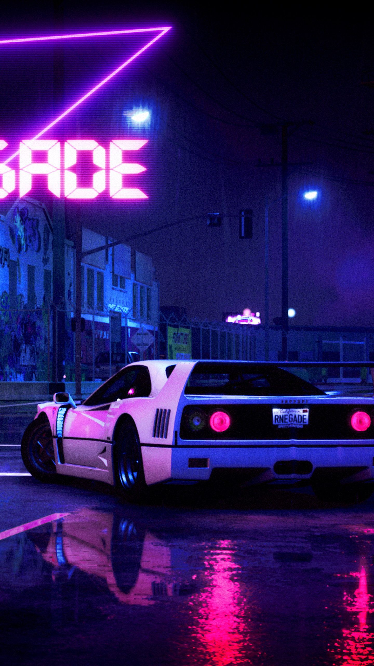 The wallpaper trend is going strong. Retrowave Aesthetic Car Wallpapers Wallpaper Cave