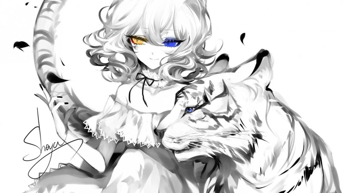 Anime Girl Aesthetic Black And White Otaku Wallpaper