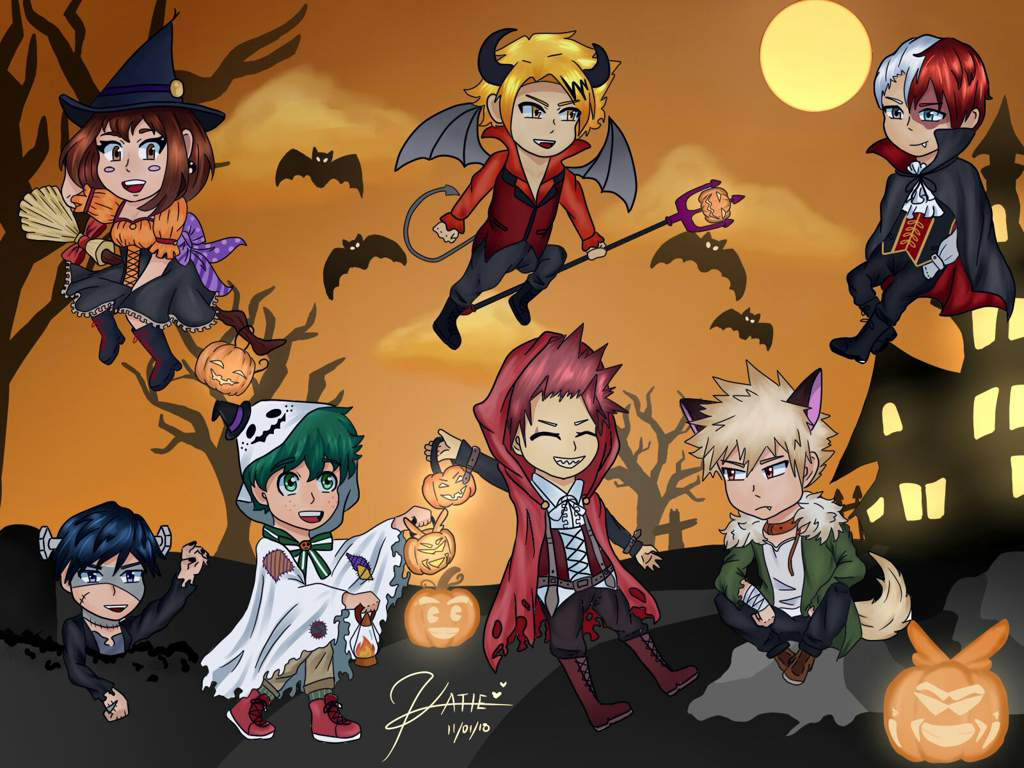 Customize your desktop, mobile phone and tablet with our wide variety of cool and interesting my hero academia wallpapers in just a few clicks! Aesthetic Halloween MHA Wallpapers - Wallpaper Cave