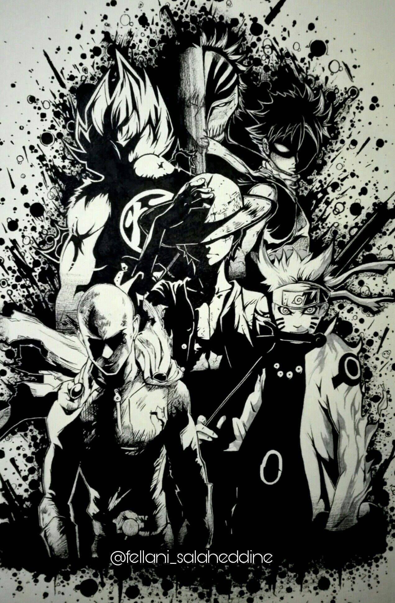 Goffu fusion of goku and luffy by universeshinobi on. Goku Naruto Ichigo Wallpapers Wallpaper Cave