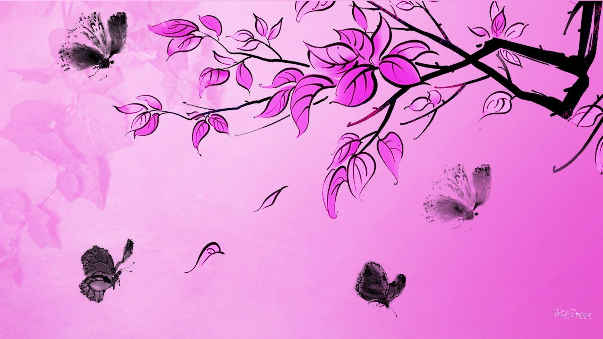 Black Butterfly Wallpapers   Wallpaper Cave Wallpapers For   Hot Pink And Black Butterfly Wallpaper