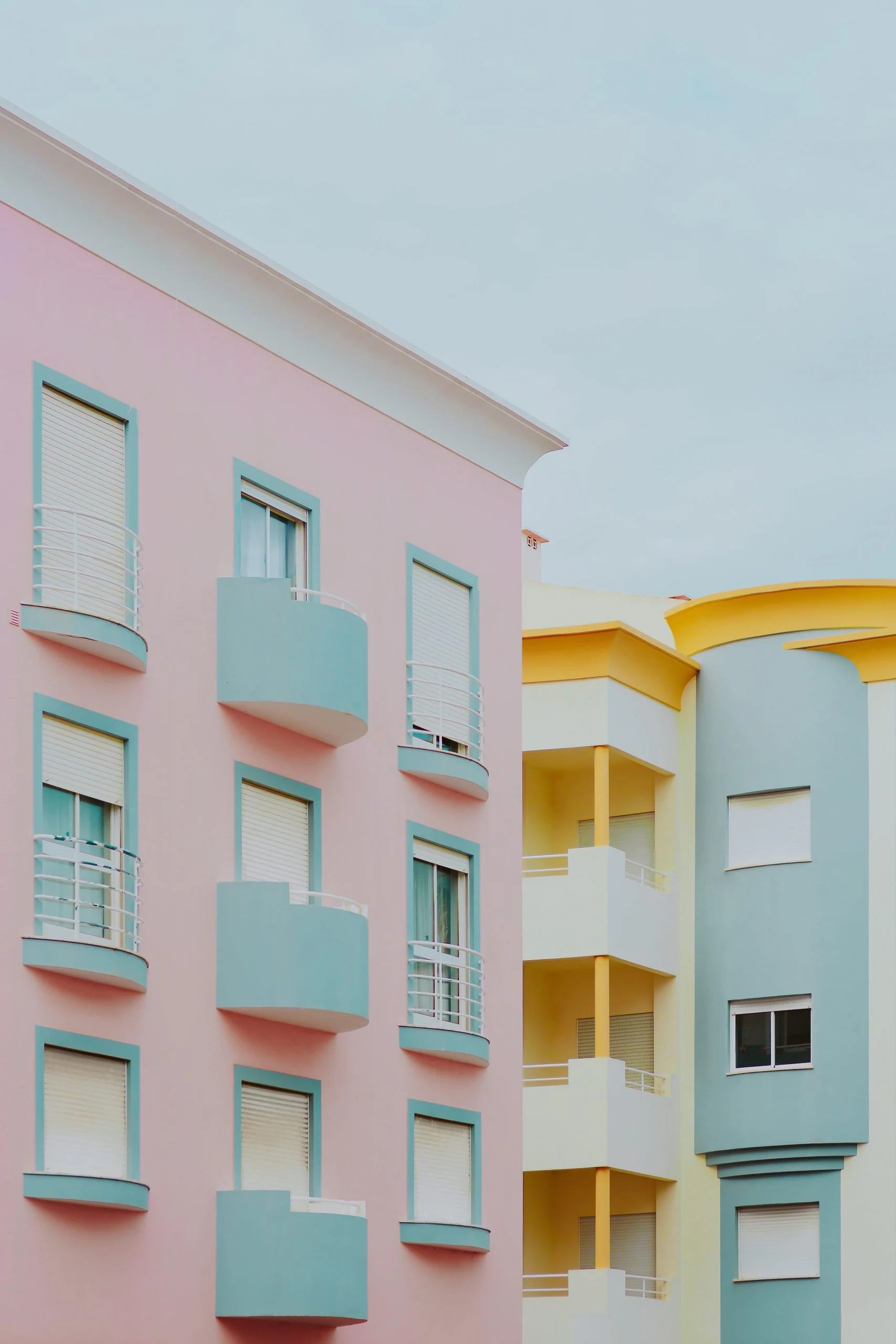 (opens in a new tab or window) 1 of 5. Pastel pink & light blue building • Wallpaper For You HD ...
