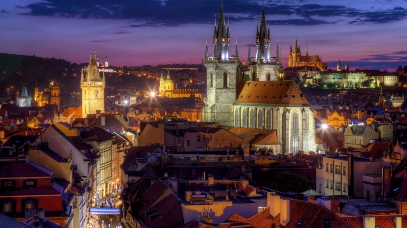 Night Lights In Prague HD Wallpaper WallpaperFX