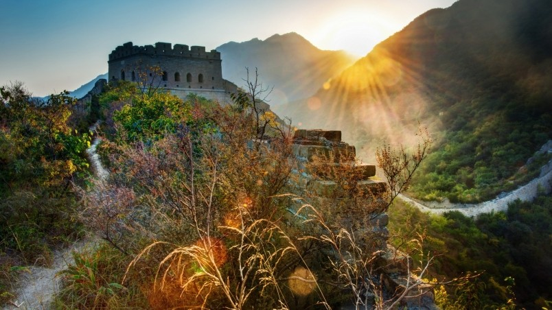 The Great Wall Of China Landscape HD Wallpaper