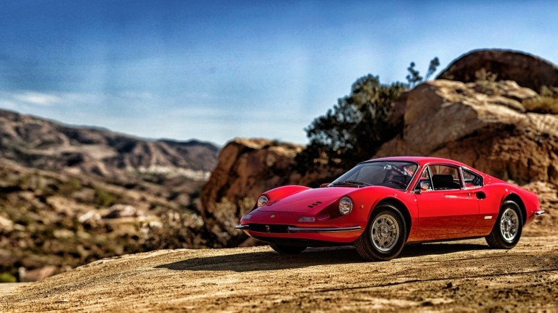 1969 Red Ferrari Dino 246 GT HD Wallpaper WallpaperFX