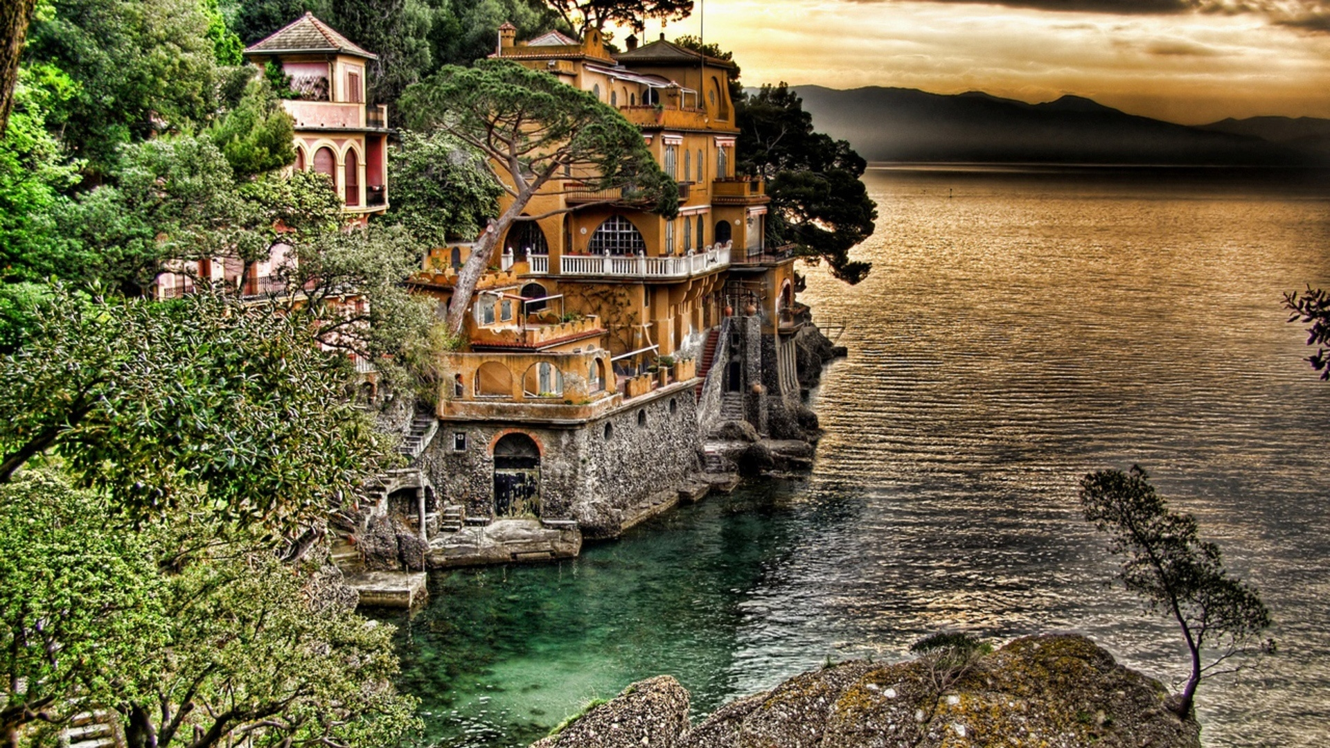 Portofino Coast View 1920 X 1080 HDTV 1080p Wallpaper