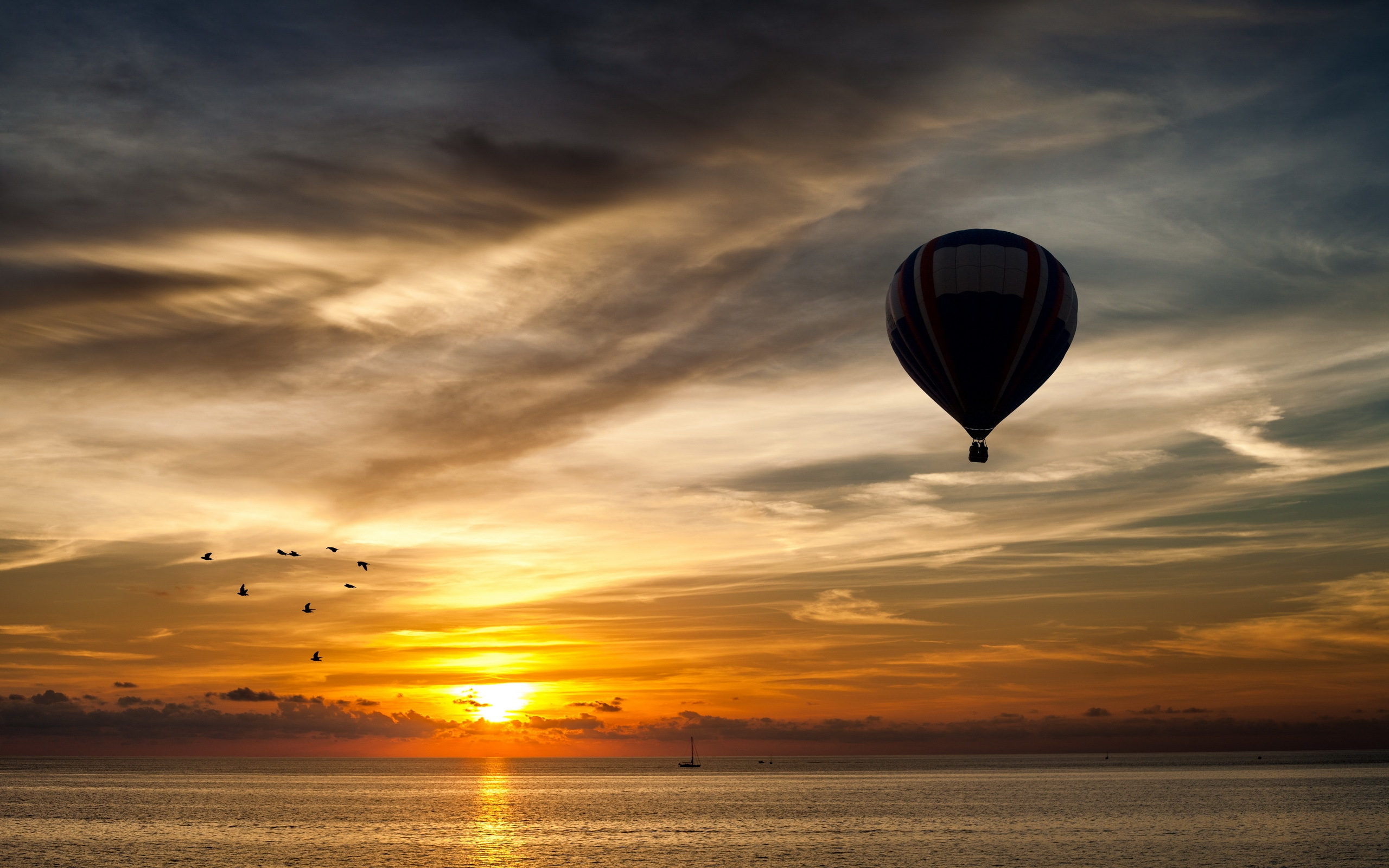 Full Color Free hd wallpapers Page 0   WallpaperLepi Silhouette Air Balloon Wallpaper Android