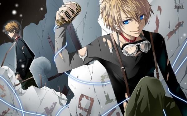 Порванная одежда, светлые волосы, голубые глаза аниме обои ...