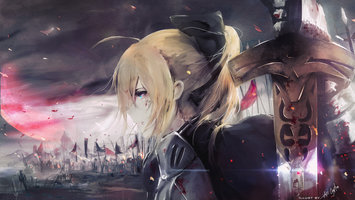 Wallpapers From Anime Fate Stay Night 3840x2160 Tags Blonde Backgrounds Windows 10