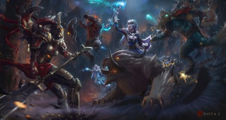 Download wallpaper from game DotA 2 with tags: Lock screen