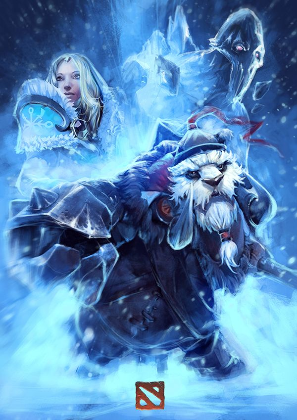 Crystal Maiden,Tusk, Ancient Apparition iphone wallpapers ...